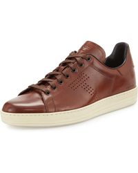 Tom Ford - Men's Warwick Leather Low-top Sneakers - Lyst