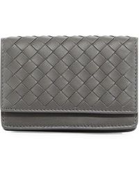 Bottega Veneta - Intrecciato Napa Flap Card Case - Lyst