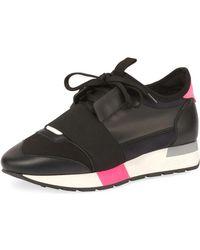 Balenciaga - Colorblock Race Stretch-sock Sneaker - Lyst