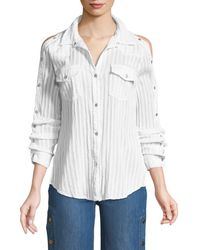 Bailey 44 - Stampede Snap-up Long-sleeve Poplin Top - Lyst