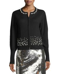 Nanette Lepore - Carnival Pearly Beaded Cardigan Sweater - Lyst