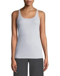 Eileen Fisher - Scoop-neck Stretch Silk Jersey Cami - Lyst