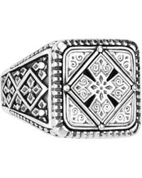 Konstantino - Men's Sterling Silver Classics Signet Ring Size 10 - Lyst
