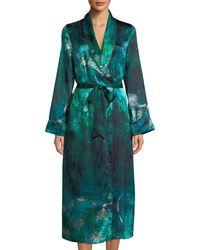 Morpho + Luna - Bianca Forest Silk Long Robe - Lyst