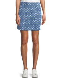 Tory Sport - Printed Jacquard Performance Skirt - Lyst