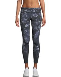 Nike - Epic Lux Printed Running Tights - Lyst