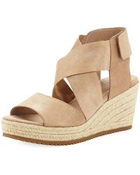 bca9d2ccb14 Eileen Fisher - Willow Starry Suede Wedge Espadrille Sandal - Lyst