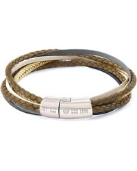 Tateossian - Men's Multi-strand Leather Cobra Bracelet - Lyst