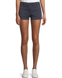 Theory - Bennie Garment-dyed Twill Shorts - Lyst