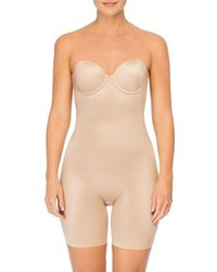 Spanx - Suit Your Fancy Strapless Convertible Underwire Mid-thigh Bodysuit - Lyst