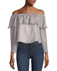 Cupcakes And Cashmere | Jobett Off-the-shoulder Metallic Blouse | Lyst