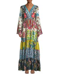 Johnny Was - Dibble Silk Georgette Drama Dress - Lyst