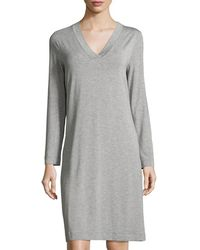 Hanro | Champagne Long-sleeve Nightgown | Lyst