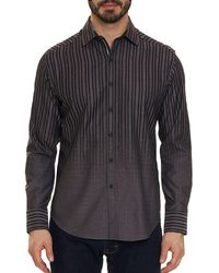 Robert Graham - Men's Gordon Heathered Stripe Sport Shirt - Lyst