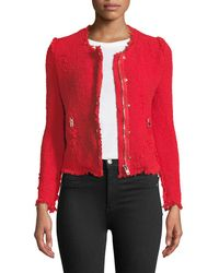 IRO - Agnette Zip-front Frayed Jacket - Lyst