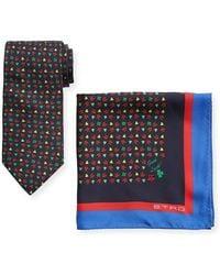 Etro - Ladybugs Boxed Tie & Pocket Square Set - Lyst