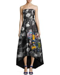 Sachin & Babi - Cathy Embroidered Strapless Gown - Lyst