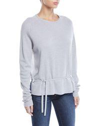 Tibi - Merino Wool Poplin-back Pullover Sweater - Lyst