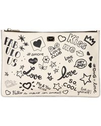 Dolce & Gabbana - Dg Graffiti Small Leather Crossbody Bag - Lyst