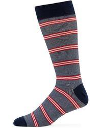 Neiman Marcus - Men's Quad Stripe Socks - Lyst