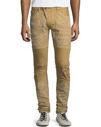 PRPS   Windsor Distressed Skinny Moto Jeans   Lyst