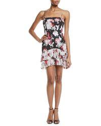 Fame & Partners - Oksana Two-tone Tier Floral Bustier Dress - Lyst
