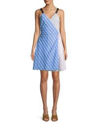 Joie - Editha Striped Sleeveless Wrap Dress - Lyst