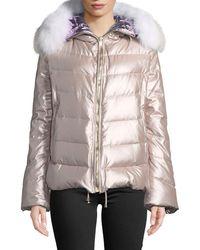 Gorski - Reversible Fox-fur Hood Quilted Puffer Apres-ski Jacket - Lyst