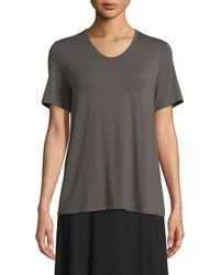 Eileen Fisher - Soft Jersey Easy V-neck T-shirt - Lyst