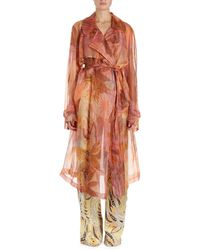 Dries Van Noten | Rigy Organza Trench-style Floral Jacket | Lyst