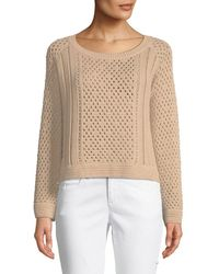 Jonathan Simkhai - Long-sleeve Pearlescent Crochet Pullover Sweater - Lyst