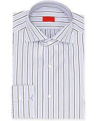 Isaia - Striped Cotton Dress Shirt - Lyst