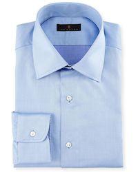 Ike Behar | Gold Label Micro-herringbone Dress Shirt | Lyst