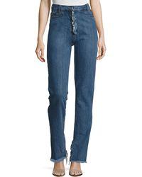 Magda Butrym - Summersville High-waist Flare-cuff Jeans With Frayed Trim - Lyst