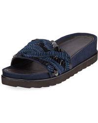 Donald J Pliner - Cava Suede Slide Sandals - Lyst