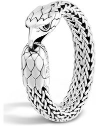 John Hardy - Men's Silver Eagle Head Chain Bracelet - Lyst