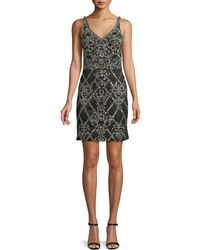 Jovani - Fully Beaded Sleeveless Mini Cocktail Dress - Lyst