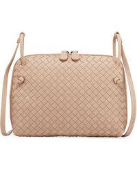 Lyst - Bottega Veneta Intrecciato Small Chain Crossbody Bag in ... a183be7c1c97f