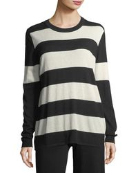 Minnie Rose | Long-sleeve Striped Pullover Top | Lyst