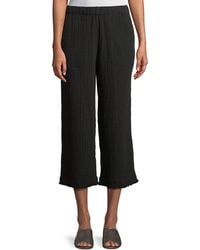 Eileen Fisher - Organic Cotton Lofty Gauze Cropped Pants - Lyst