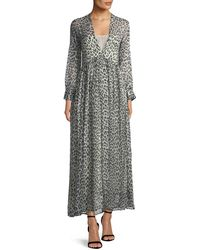 Forte Forte - Savage Vanity Deep V-neck Silk Maxi Dress - Lyst