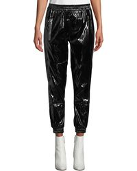 RTA - Finn Patent Ankle Track Pants - Lyst
