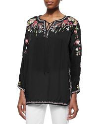 Johnny Was - Vanessa Georgette Embroidered Tunic - Lyst