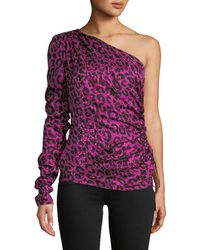 MILLY - Leopard Cara Top - Lyst
