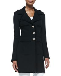 St. John - Milano Pique Fit And Flare Topper Coat - Lyst