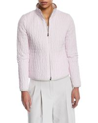 Loro Piana - Windmate Quilted Zip-front Short Jacket - Lyst