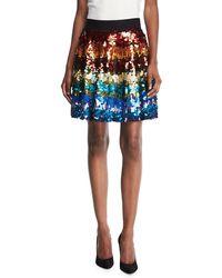 Alice + Olivia | Blaise Embellished Trapeze Skirt | Lyst