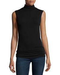 Neiman Marcus - Soft Touch Sleeveless Stretch Turtleneck - Lyst