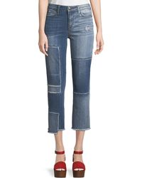 True Religion - Stovepipe Deconstructed Patchwork Jeans - Lyst