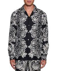Dolce & Gabbana - Men's Lace Print Silk Pajama Top - Lyst